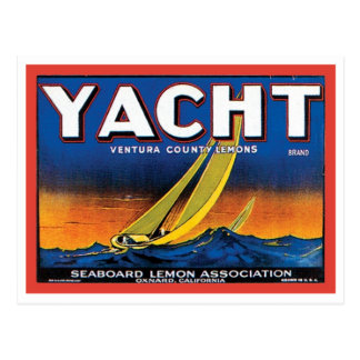Yacht Brand Ventura County Lemons Vintage Crate La Postcard