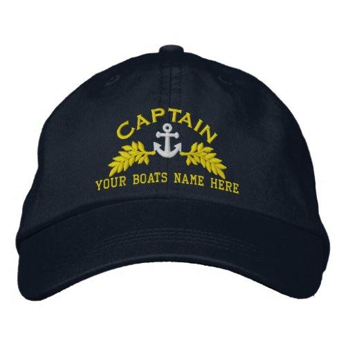 Yacht Captain  ships anchor Embroidered Baseball Cap