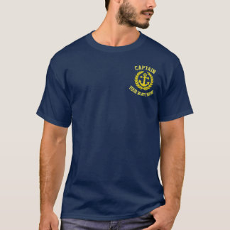 Yacht captains and boats name T-Shirt