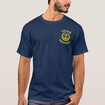 customthreadz Yacht captains and boats name T-Shirt