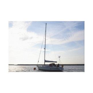 Yacht Clara Stretched Canvas Print