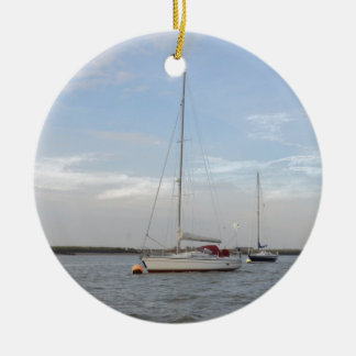 Yacht Clara On The Crouch Ceramic Ornament