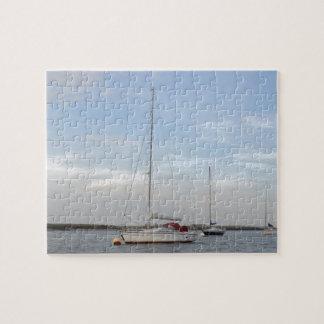 Yacht Clara On The Crouch Jigsaw Puzzle