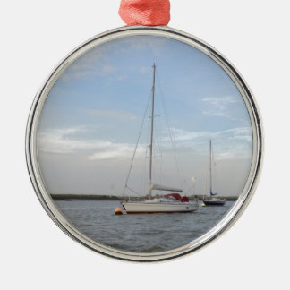 Yacht Clara On The Crouch Metal Ornament