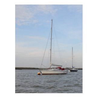 Yacht Clara On The Crouch Postcard