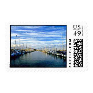 Yacht Club, Auckland Harbor, North Island Postage Stamps