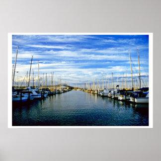 Yacht Club, Auckland Harbor, North Island Poster
