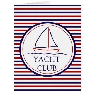 Ocean Themed Yacht Club Card