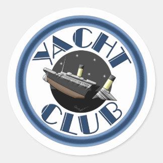 Yacht Club Classic Round Sticker