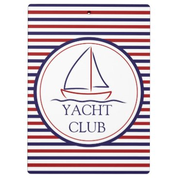 Ocean Themed Yacht Club Clipboard