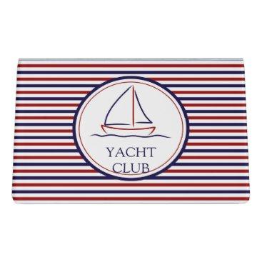 Ocean Themed Yacht Club Desk Business Card Holder