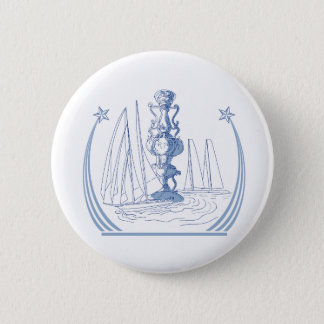 Yacht Club Racing Trophy Cup Drawing Button