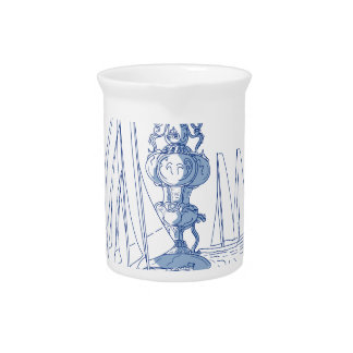 Yacht Club Racing Trophy Cup Drawing Drink Pitcher