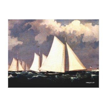 Ocean Themed Yacht Club Regatta - Fitz Henry Lane Canvas Print
