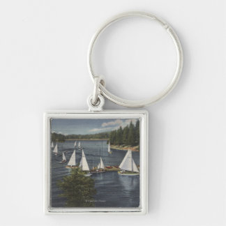 Yacht Club, Sailboat Race Key Chains