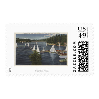 Yacht Club, Sailboat Race Stamp