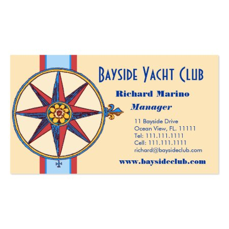 Sailing Yacht Club, Marina, Nautical Shop Business Card Templates