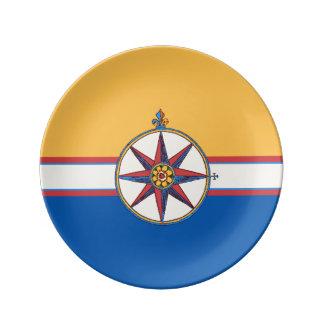 Yacht Club Sailing Marina Compass Rose Elegant Porcelain Plate