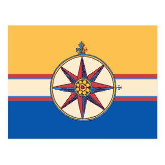 Yacht Club Sailing Marina Compass Rose Elegant Postcard