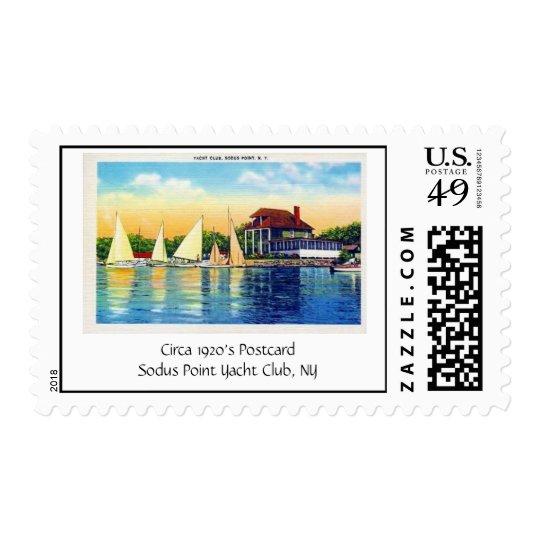 Yacht Club Sodus Point, Circa 1920's PostcardSo... Postage