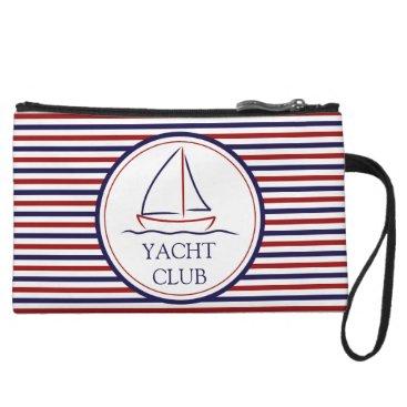 Ocean Themed Yacht Club Wristlet