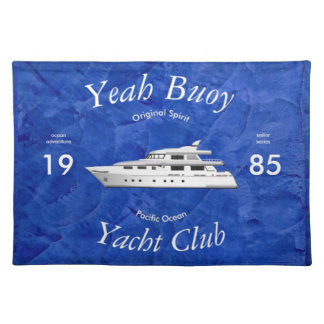 Yacht Club Yeah Buoy Cloth Placemat