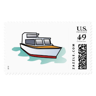 Yacht Drawing Postage