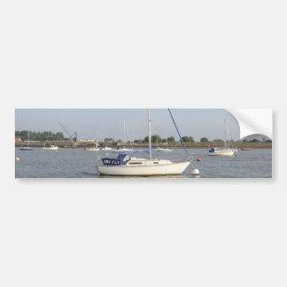 Yacht Dry Fly Car Bumper Sticker