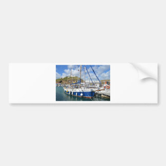 Yacht Francesca In The Azores Bumper Sticker