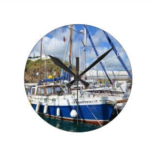 Yacht Francesca In The Azores Wallclock
