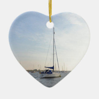 Yacht Grace Ceramic Ornament