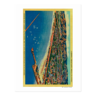 Yacht Harbor, The Palisades, and Santa Monica Postcard