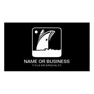 yacht icon business cards
