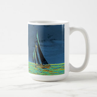 Yacht 'Idler' Races for America's Cup 1901 Mugs