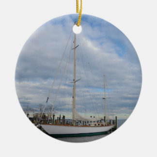 Yacht in Annapolis. Ornament
