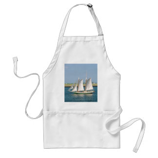 Yacht in Boston Harbor Adult Apron