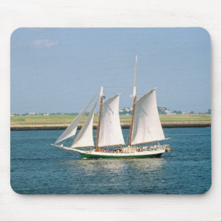 Yacht in Boston Harbor Mouse Pad