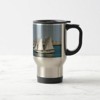 Yacht in Boston Harbor Travel Mug