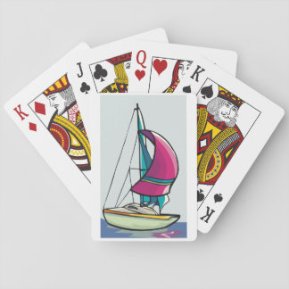 Yacht In Full Sail Playing Cards