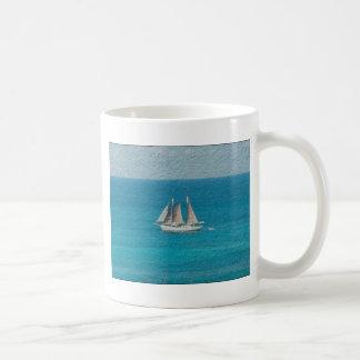Yacht in St. Maarten Coffee Mug