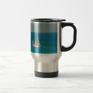 Yacht in St. Maarten Travel Mug