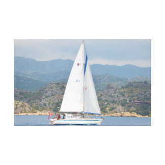 Yacht In Turkey Canvas Print
