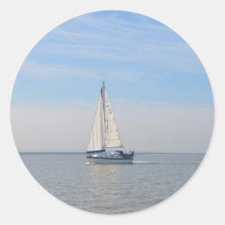 Yacht Janimari II Classic Round Sticker