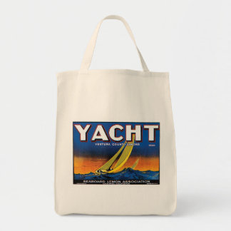 Yacht Lemons grocery tote