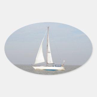 Yacht Lune Orbiter Oval Sticker