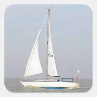 Yacht Lune Orbiter Square Sticker