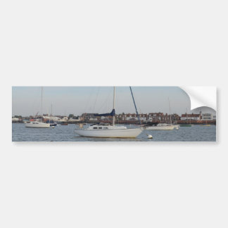 Yacht Moored On The River Crouch Car Bumper Sticker