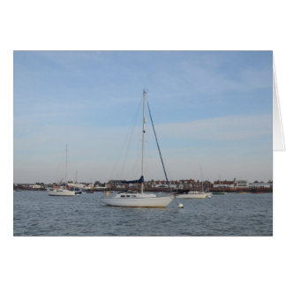 Yacht Moored On The River Crouch Card