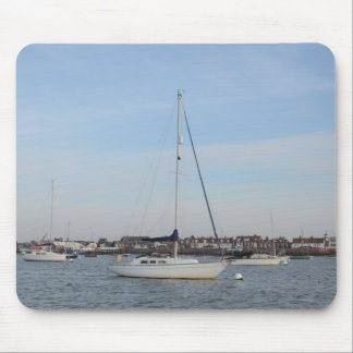 Yacht Moored On The River Crouch Mouse Pad