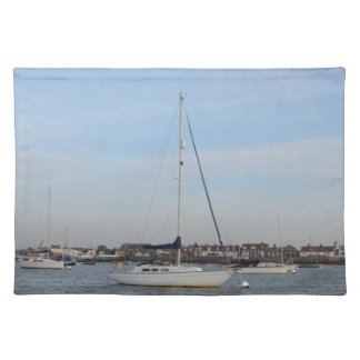 Yacht Moored On The River Crouch Placemat